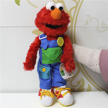 Buy Free 1pcs 40cm=15.7inch Original Sesame Street Elmo educational plush soft dolls toys for $17.50 in AliExpress store