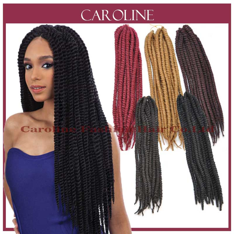 Havana Mambo Twist Hair Crochet Braids Extension Senegalese Synthetic Braiding Hair Kinky Curly Hair For Black Women3pcs/lot(China (Mainland))