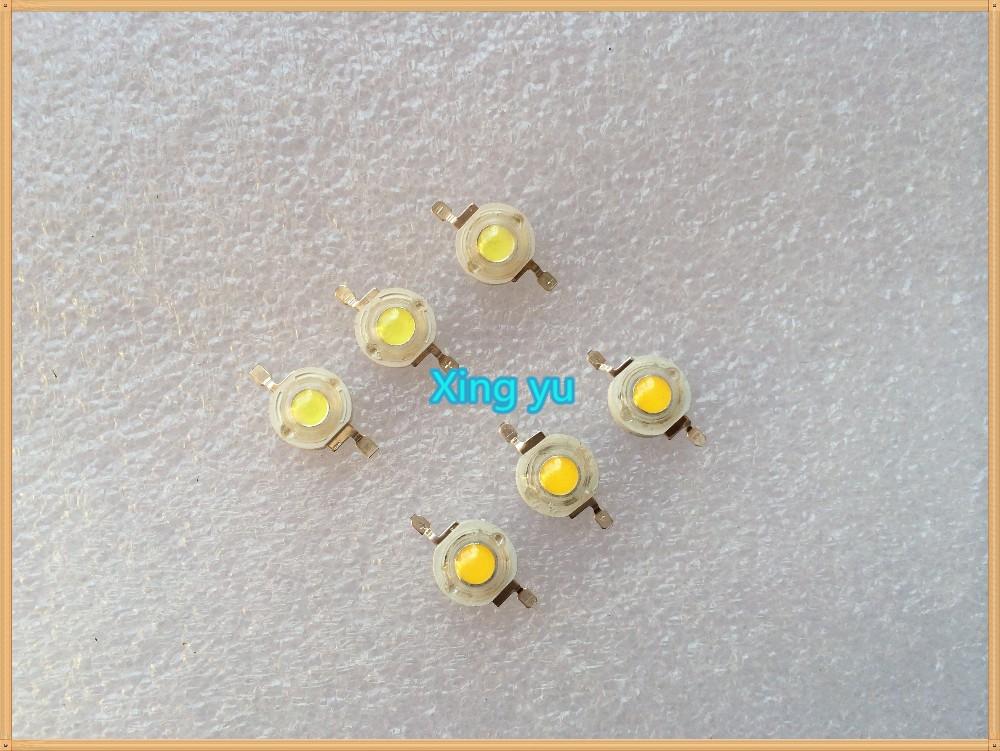 100pcs 1W LED Bulbs High power Lamp beads Pure White/Warm White 300mA 3.2-3.4V 100-120LM 30mil Taiwan Genesis Chip Free shipping(China (Mainland))