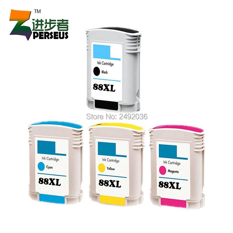 Perseus Ink Cartridge Replacement For HP 88XL 88 Combo 4 Pack-(1 Black,1 Cyan,1 Magenta,1 Yellow) Inkjet Printer(China (Mainland))