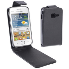 6802 High Quality Vertical Flip Leather Case for Samsung Galaxy Ace Duos S6802 With Magnetic Button Mobile Phone Black Case(China (Mainland))