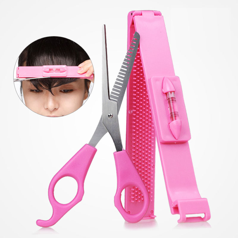 Pink DIY Hair Cut Tools Women Artifact Style Set Hair Cutting ...