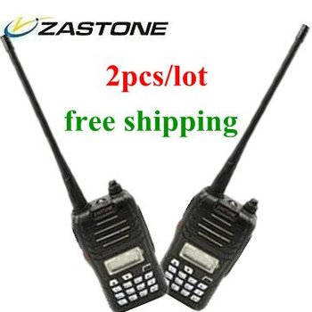 LED display FM keypad transceiver Zastone  ZT-Q5 5W  VHF or UHF optional 16 channel 2pcs/lot free shipping