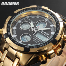 2016 Military Watches Men Luxury Brand Full steel Watch Sports Quartz Multi-function LED Display Wristwatch Relogio Masculino