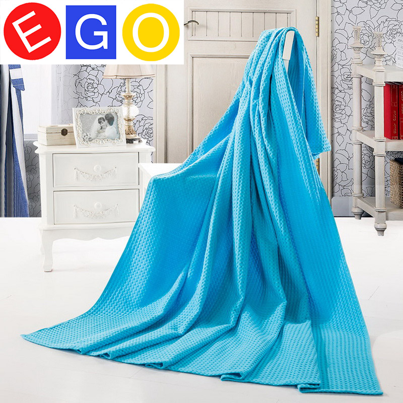 Summer super soft blankets towel blanket with good ventilation for travel bed hotel car sofa(China (Mainland))