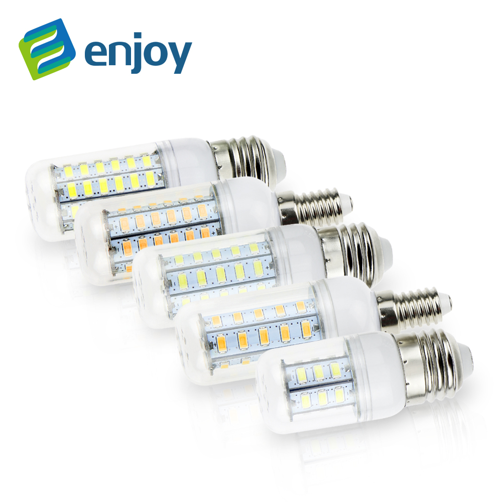 E14 E27 Led Lamps 5730 220V 5W 7W 12W 15W 18W 20W 25W LED Lights Corn Bulb Christmas Chandelier Candle Lighting - Enjoying+ Store store