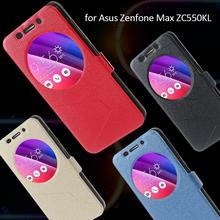 For Asus Zenfone Max ZC550KL Smart Window Inner Soft TPU PU Leather Stand Flip Wake/Sleep Case for Asus Zenfone Max ZC550KL(China (Mainland))