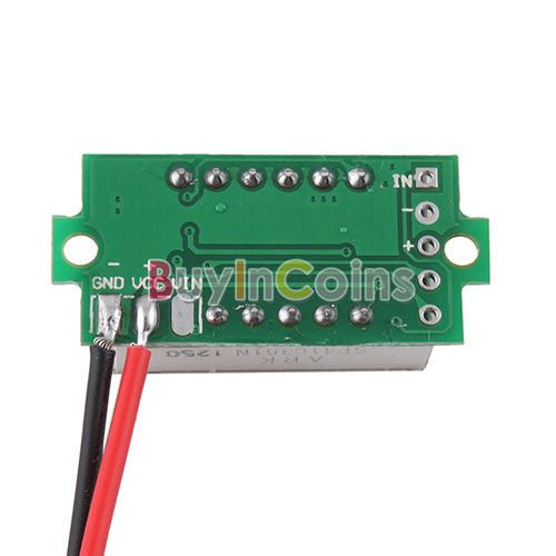 New Mini Two Wires Digital Voltmeter 3.3-30V Red LED Display Vehicles Motor Voltage Panel Meter US AS #19492(China (Mainland))