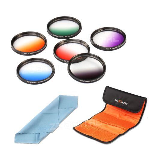6pcs 67mm Graduated Color Lens Filter Kit Set For Canon Nikon DSLR Camera 67MM Lens Cleaning Cloth<br><br>Aliexpress