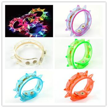 5pcs/Lot Hot sale LED bracelet light up flashing bracelet Blinking Spike bracelet for party Christmas Free Shipping