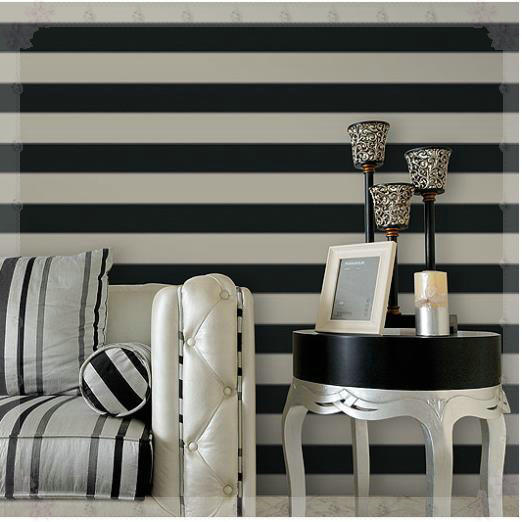 Zebra Wallpaper Roll Modern Brief Vertical Black And White