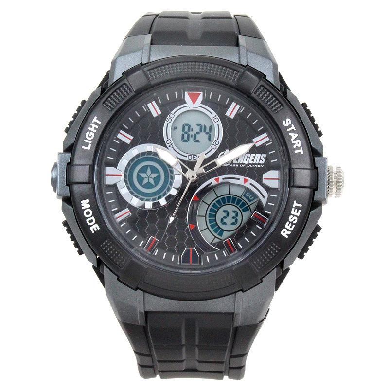 Disney brand Mickey Children 50m waterproof Digital Wrist Watches boy calendar Alarm Luminous Timing Captain America clock(China (Mainland))