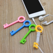 New sales random No box Cute Key Shape Earphone cable winder remote control earphone cord wrapped portable headphone cable hub(China (Mainland))