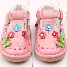 2016 New Sandals PU Butterfly Dichotomanthes End Baby Toddler Shoes, Pure Handmade Girl Outdoor Comfortable Shoes(China (Mainland))