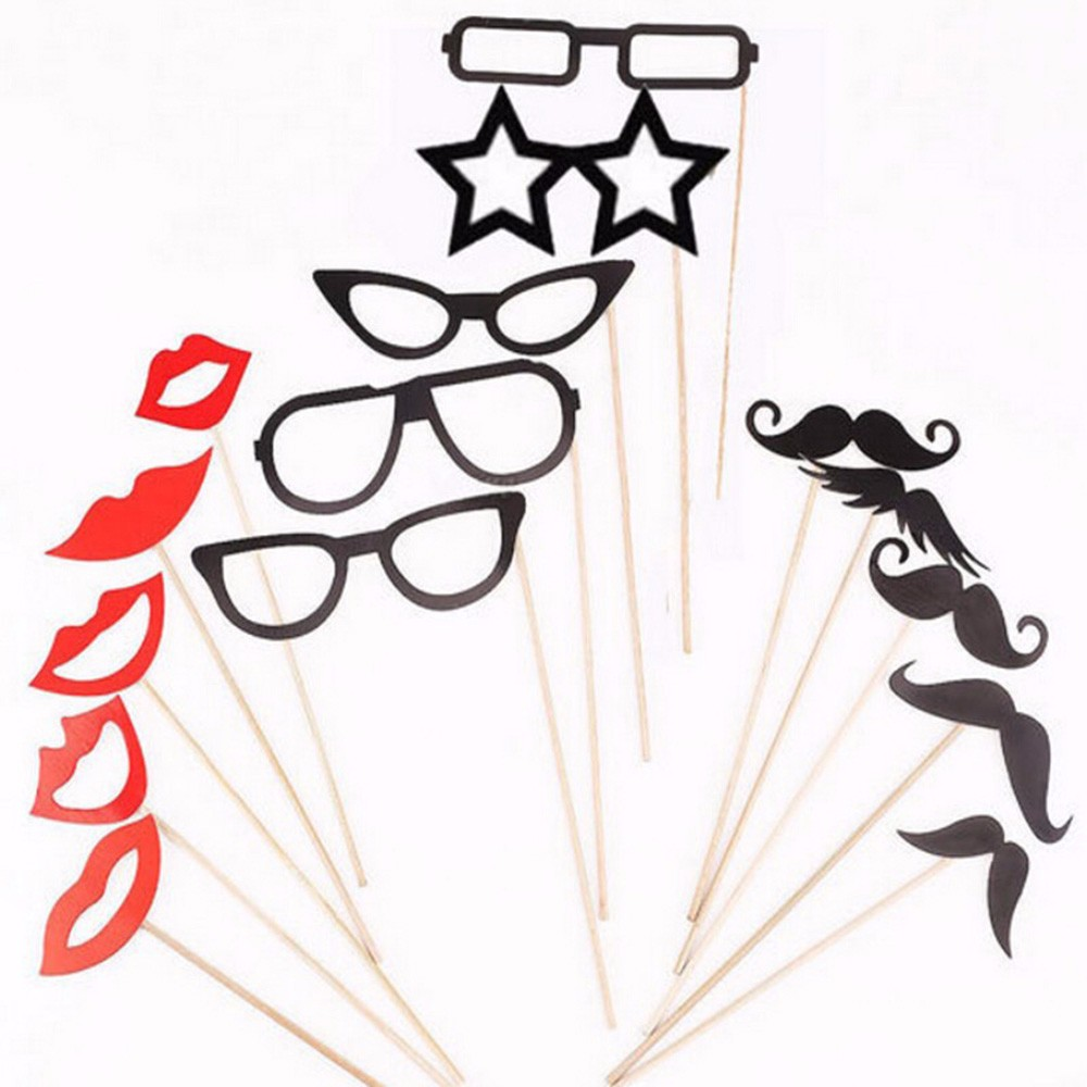 15PSCLOT-Wedding-Party-Photo-Booth-Props-Mustache-Mask-Birthday-Party-Photo-Booth-Props-Glasses-Lip-On-A-Stick-For-Fun-Favors-Party-Supplies-HG0207 (1)