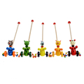 Cartoon Baby Coagent Toddler Child Putting Animals Wooden Puzzle Trolley Toy Baby Gift FCI