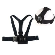 Buy Gopro Adjustable Elastic Chest harness Body Belt Breast Strap+ Head band Mount Go Pro Hero SJ4000 SJ5000 Xiao mi Camera GP59 for $5.97 in AliExpress store