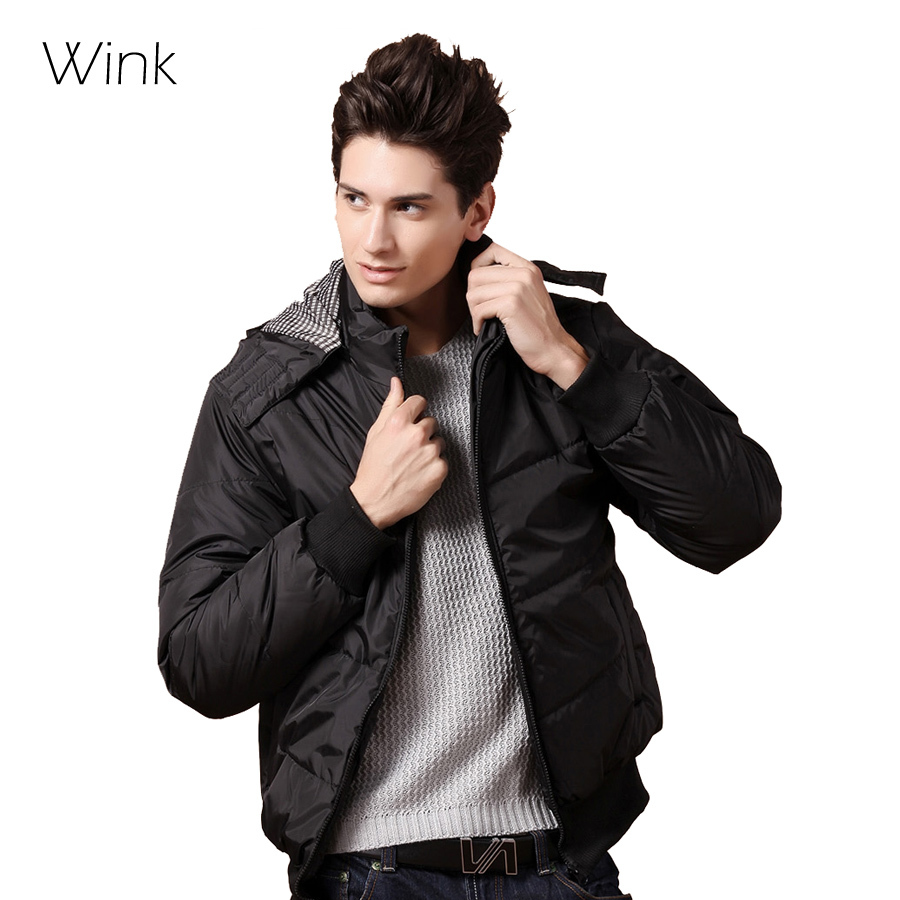 New Arrival Men Winter Coats Snow Warm Thick Hooded Casual Down Jacket Coats Brand Design Slim Fashion Outdoor Cotton Parka E030