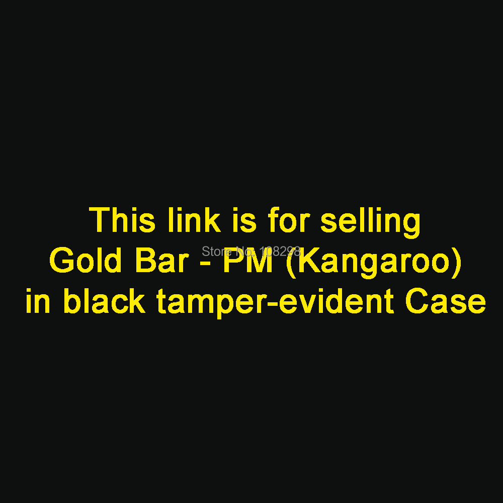 (1pcs) 5 gram Gold Bar - Perth Mint ( Kangaroo ) ( non-magnetic ) in hard BLACK tamper-evident case/ different serial number(China (Mainland))