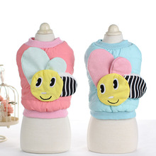 Buy Cute bee Small Dog puppy hoodie clothing pet winter Warm fleece dog cat Pet coat jacket princess chihuahua dog clothes for $6.89 in AliExpress store