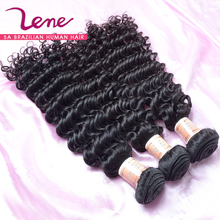 Unprocessed brazilian virgin hair deep curly 3pcs lot full cuticle brazilian kinky curly virgin hair weave cheap remy human hair(China (Mainland))