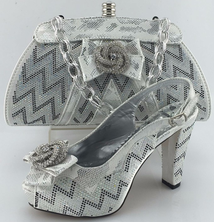 Italian matching shoe and bag set for wedding&party African ladies high heels pumps ME3330 Yellow size 38-42