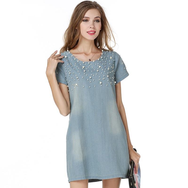 Top Sale Denim Women Dress 2015 5XL Summer Style Casual ...