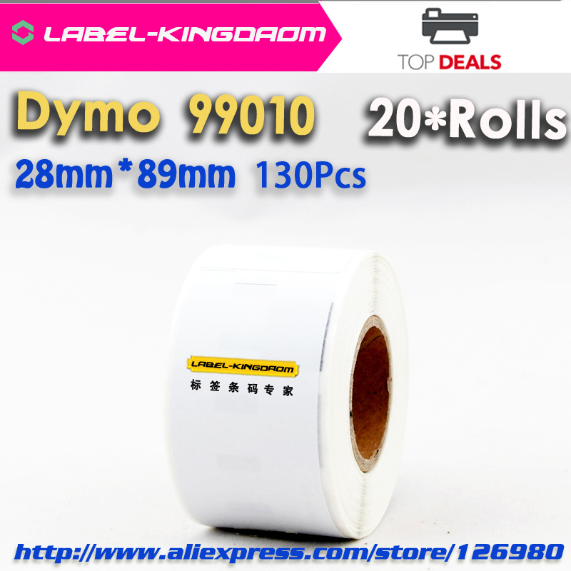 20 Rolls Generic Dymo Label 99010 Address Barcode Labels 28x89mm Compatible Free Shipping(China (Mainland))