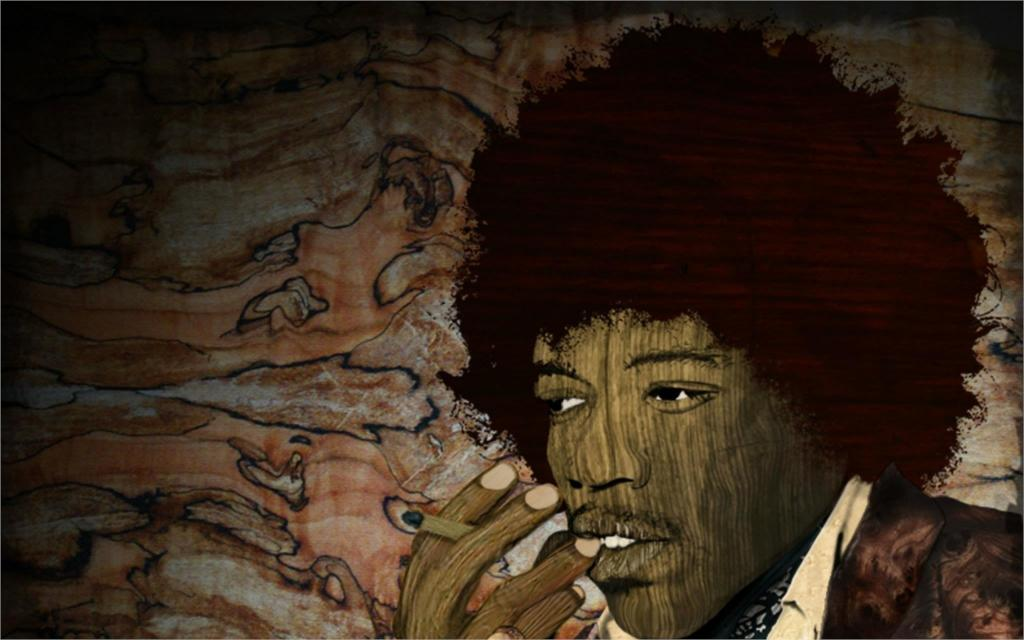 Music smoking jimi hendrix singers digital pop art manipulation cigarettes guitars men 4 Sizes Wall Decor Canvas Poster Print(China (Mainland))