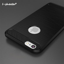 Buy I-sheeta New Case Apple iPhone 6 6s Plus Carbon Fiber Texture Brushed Soft Silicone TPU Back Cover iPhone 6s / 6s Plus for $2.99 in AliExpress store