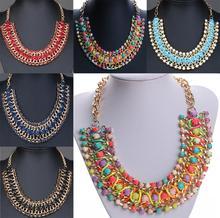 Vintage Crystal Chain Collar Choker Statement Bib Charm Necklace Pendant Gift(China (Mainland))