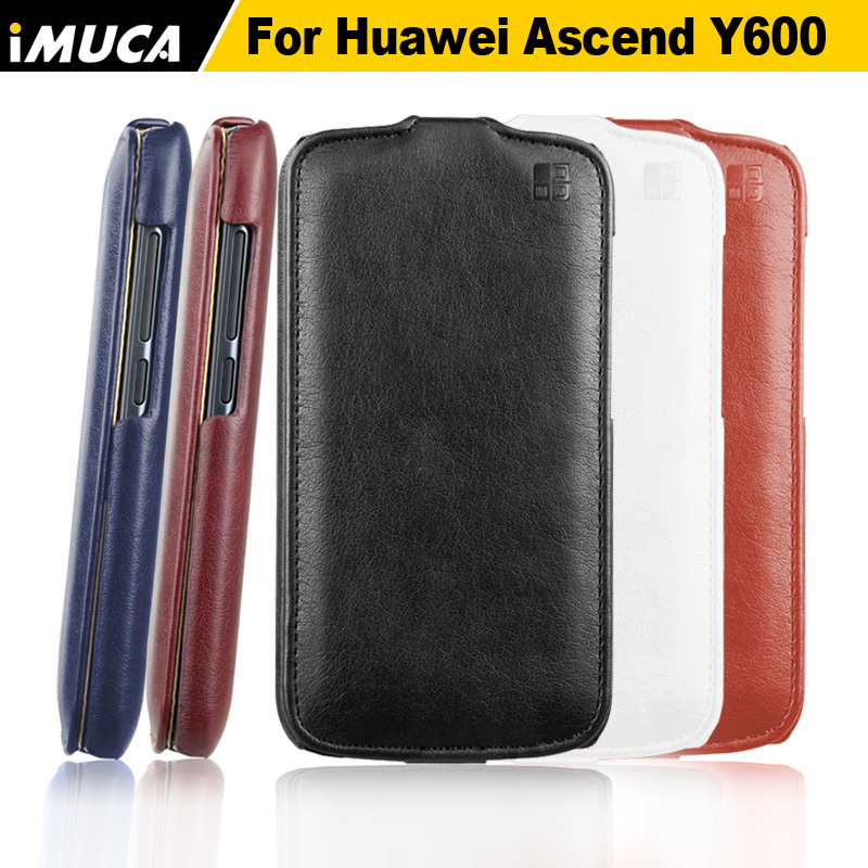 Huawei ascend y600 case 100% original leather vertical huawei flip cover mobile phone bags cases accessories - IMUCA flagship store