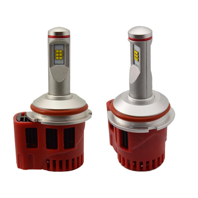 Фотография 2 x 6000K xenon white led auto headlight bulbs kits for 9004 high low beam car styling 12V 24V 45W 45000Lm led headlight