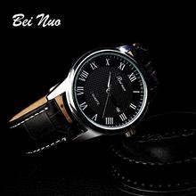 Bei Nuo Top Brand New Arrival 2016 Leather Strap Men Sports Wristwatch Watches Men Montre Homme Marcas Famosas Watch 55 XR597(China (Mainland))