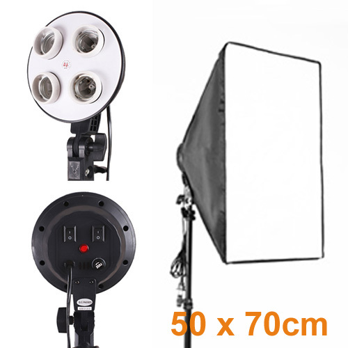 4 x E27 Socket Lamp Holder with 20x28/50cm 70cm Softbox Photo Studio Lighting Kit  PSCSB4<br><br>Aliexpress