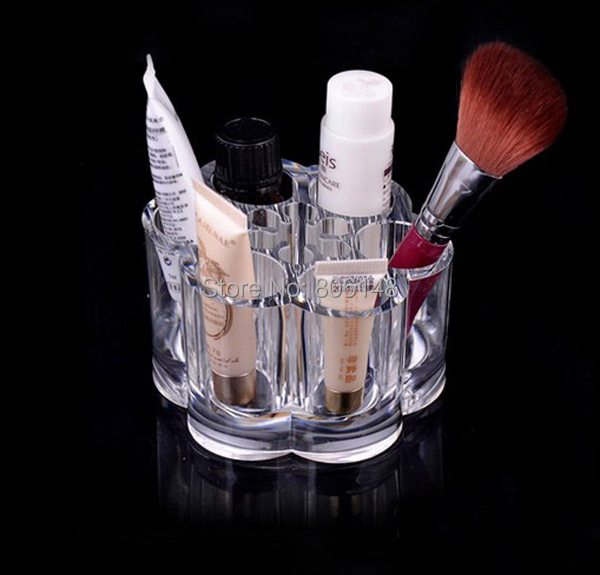 9*9*5.3 CM Clear Plastic Titoni Cosmetic Brush Storage Box, Makeup Tools Lipstick Display Case - No Best Only Better Leatherware store