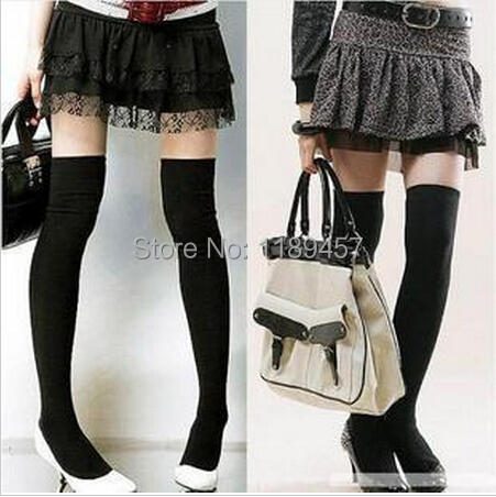 2015 NEW 4 Colors Fashion Sexy Thigh High Over The Knee Socks Long Cotton Stockings For Girls Ladies Women(China (Mainland))