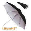 High Quality 43 110cm Black and Silver Translucent Reflector Double Umbrella Photo Studio Accessories Hot Selling