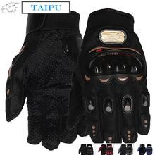 NEW PRO knight Full Finger Protective Gear Black Carbon Fiber Pro-Biker Bike Motorcycle Motorbike Racing Gloves Luvas M/L/XL