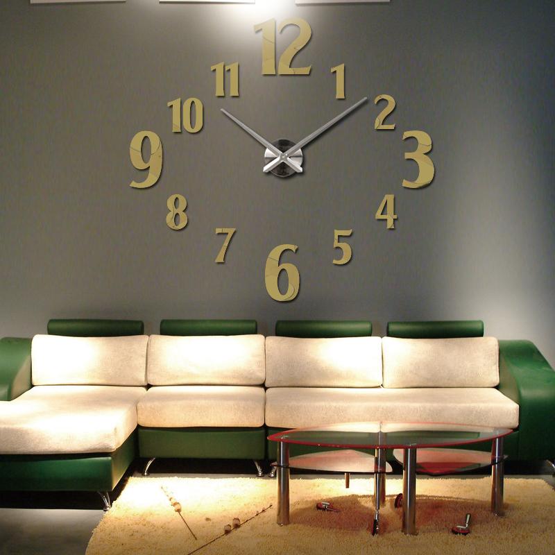 de moda reloj de pared circular de cuarzo reloj de bricolaje relojes de pared decoracin de la habitacin breve diseo pega