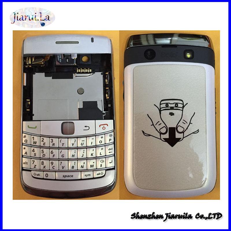 Original For BlackBerry Bold 9700 9780 Housing Cover Complete +Keypad +Side Button + Logo, White /Black(China (Mainland))