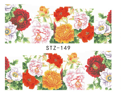 1pc NEW Elegant Flowers Designs Full Tips Nail Art Decorations Accessory of Nail Art Water Sticker Decals #STZ-149(China (Mainland))