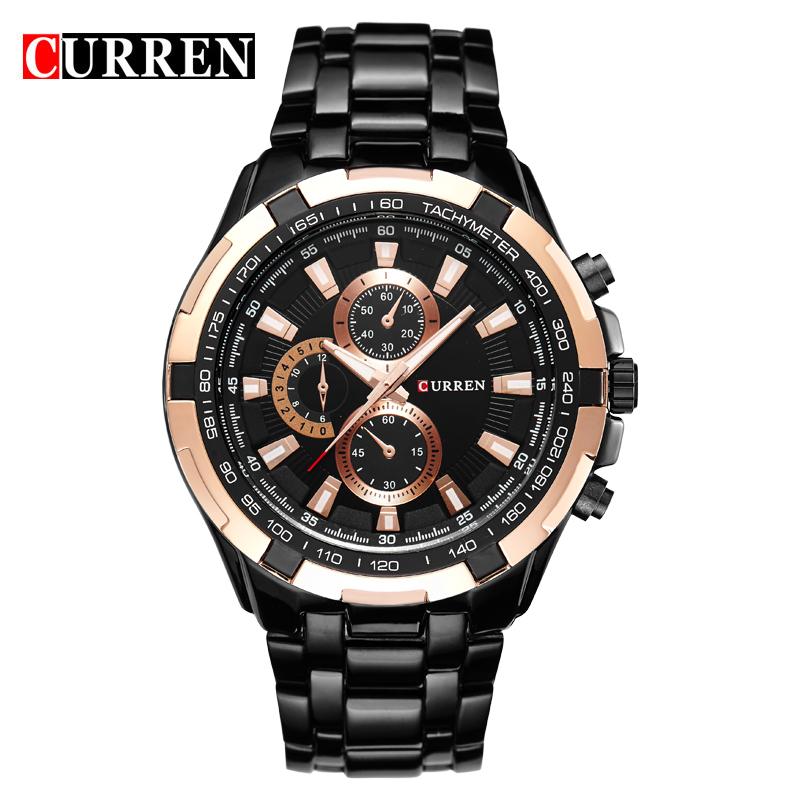 Original Mens Watches Top Brand Luxury CURREN Stainless Steel Casual Watch Men Business Quartz Wrist Watch Relogio Masculino(China (Mainland))