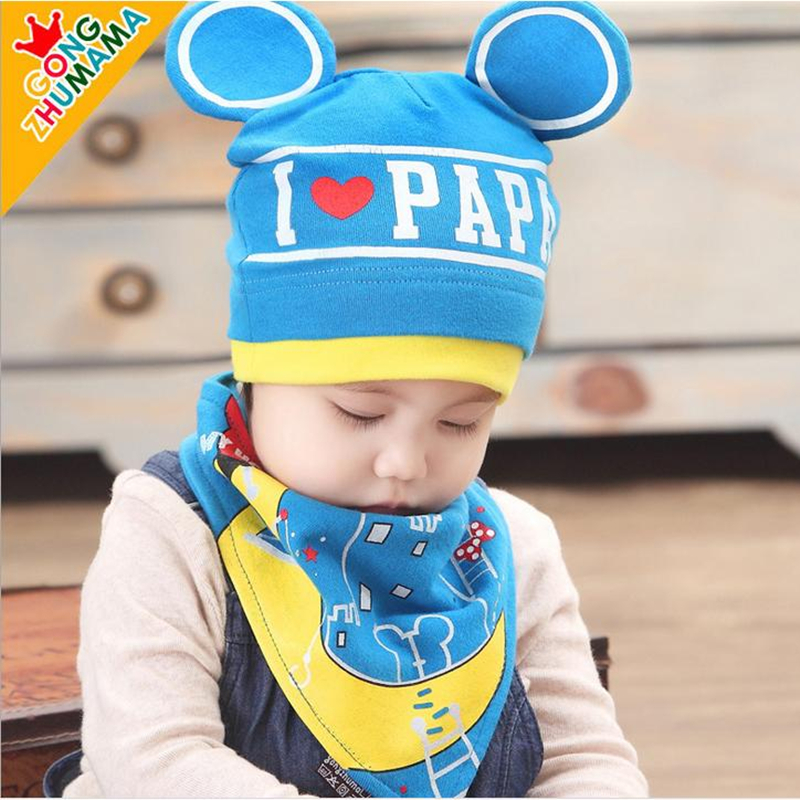 IVE New Baby Hat Bibs Sets Kids Hats+Bib Baby Beanie Bibs Boys Cute Caps Photography Props Costumes Knitted girls hat(China (Mainland))