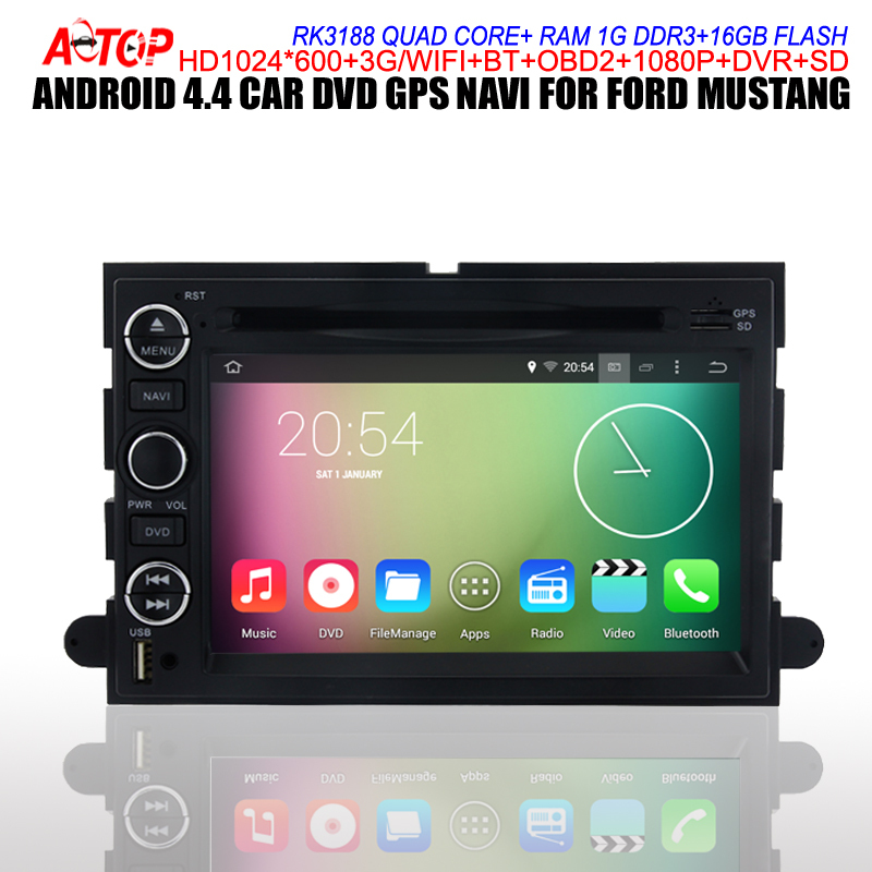 RK3188 Quad-Core Android 4.4 Car Gps Navi For Ford Mustang Expedition Fusion Sedan Explorer DVD+3G/Wifi+FM/AM/RDS+Free 8G Map(Hong Kong)