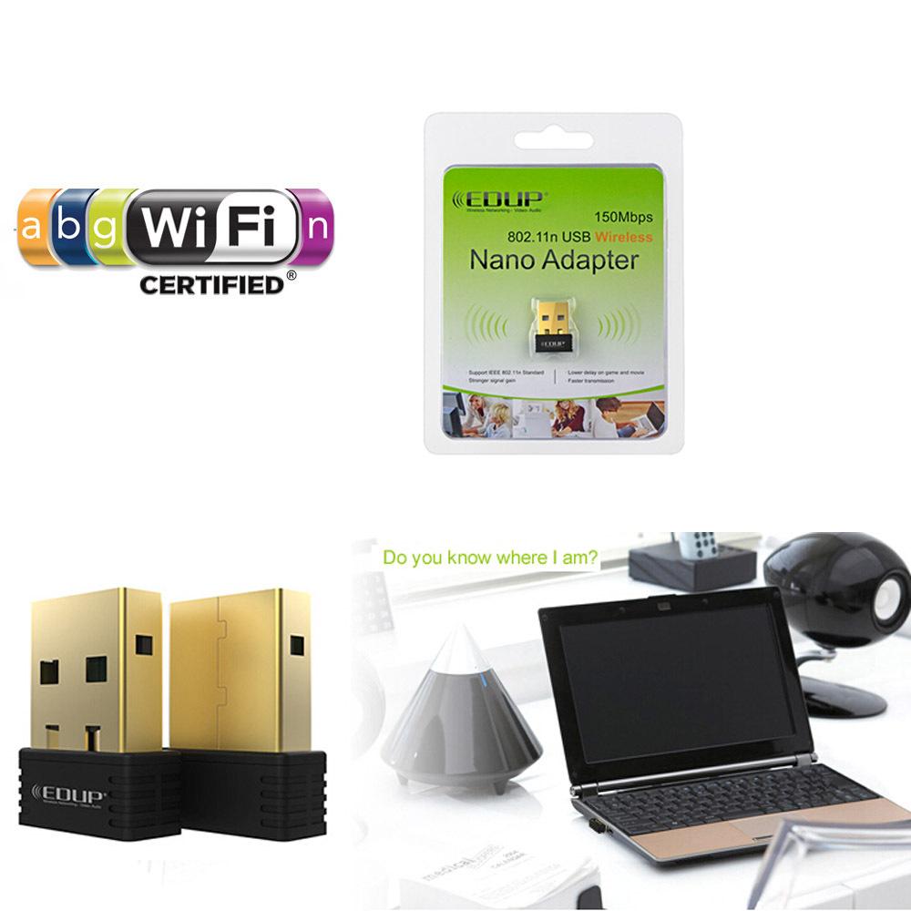 EDUP MTK7601 IC 2.4G 802.11n a/b/g 150Mbps Wireless WiFi USB Nano Wifi Lan Cards Adapter WIN MAC Linux(China (Mainland))
