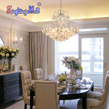 New European Luxury Crystal Chandelier K9 Crystal Lamp Living Room Bedroom Modern Restaurant Round Creative LED Lamps Lighting(China (Mainland))