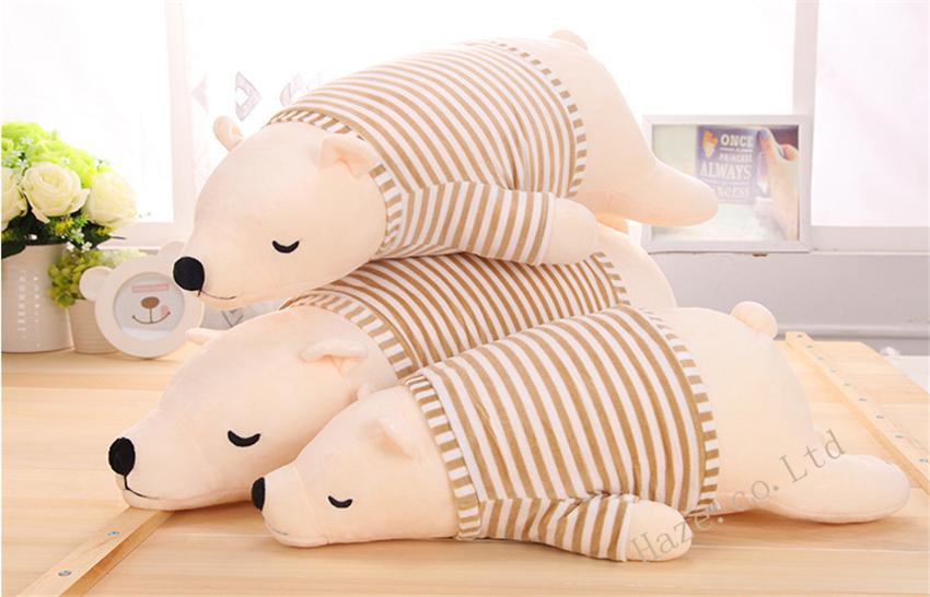Big Stuffed Animal Plush Doll Toy Polar Bear Pillow Cushion Kids Gift(China (Mainland))