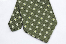 NT0132 Green Silver Plaid Smooth Man s Wedding Business Luxury Tie Jacquard Woven Classic Silk Polyester