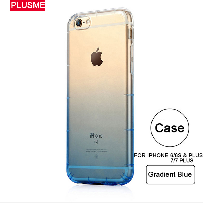 Plusme Mobile Phone Cases For iPhone 6 6S 7 7S & Plus Cases Gradient Colors Brand New Design Unique Protective For iPhone Cases(China (Mainland))